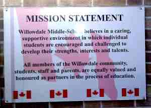 Willowdale School Mission Statement, Toronto