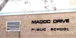 Madoc Drive School Sign