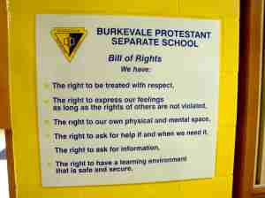 Bill of Rights for Schools
